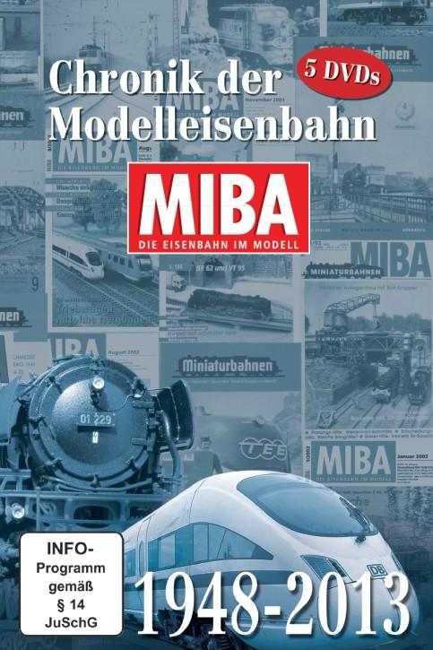 5 DVDs: Chronik der Modelleisenbahn 65 Jahre MIBA 1948-2013