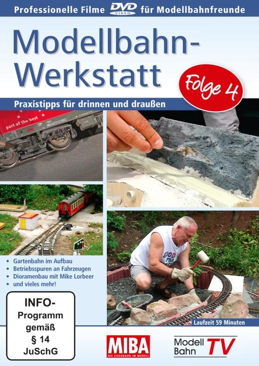 DVD: Modellbahn-Werkstatt Folge 4. Praxistipps für drinnen und draußen