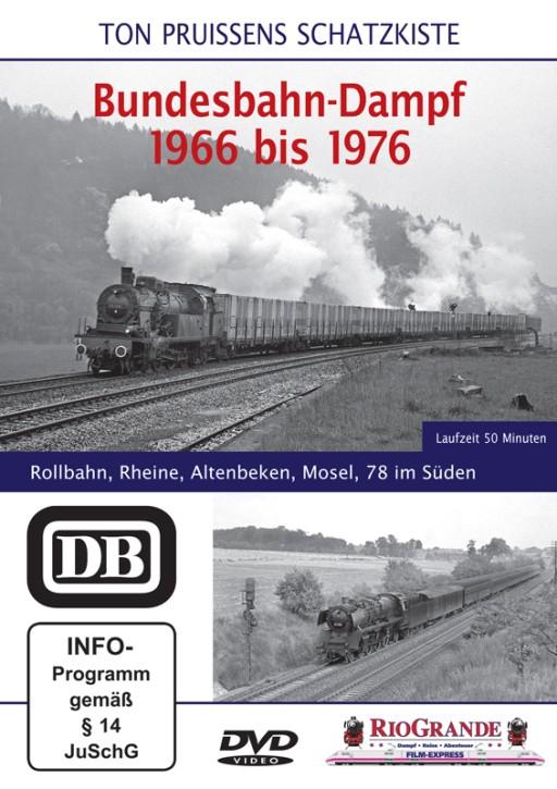 DVD: Bundesbahn-Dampf 1966 bis 1976. Rollbahn, Rheine, Altenbeken, Mosel, 78 im Süden