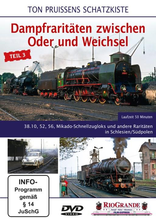 DVD: Ton Pruissens Schatzkiste. Dampfraritäten zwischen Oder und Weichsel Teil 3. 38.10, 52, 56, Mikado-Schnellzugloks und andere Raritäten in Schlesien/Südpolen