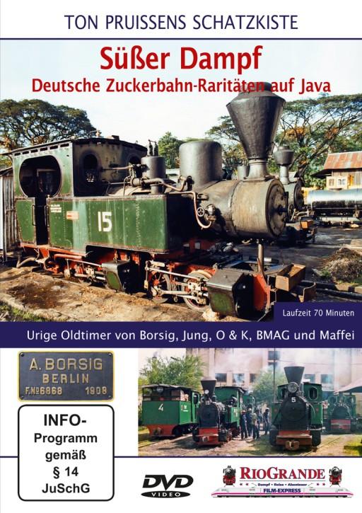 DVD: Ton Pruissens Schatzkiste. Süßer Dampf Deutsche Zuckerbahn-Raritäten auf Java. Urige Oldtimer von Borsig, Jung, O & K, BMAG und Maffei