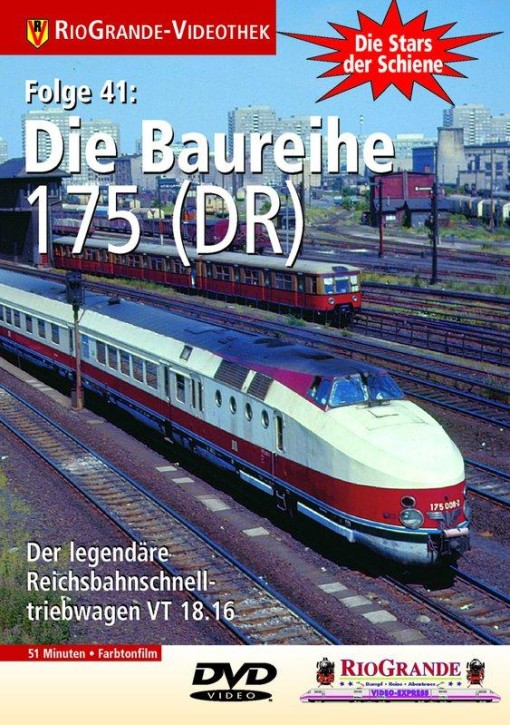 DVD: Stars der Schiene 41. Die Baureihe 175 (DR-VT 18.16)