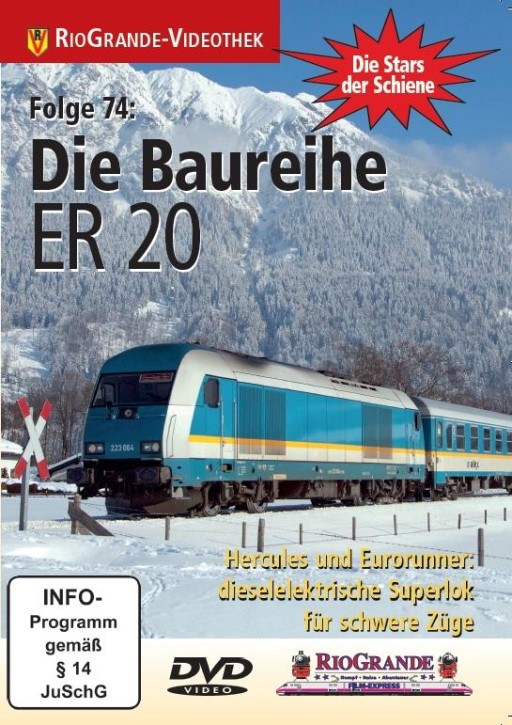 DVD: Stars der Schiene Folge 74. Die Baureihe ER 20. Hercules und Eurorunner: dieselelektrische Superlok für schwere Züge