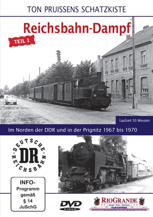 DVD: Ton Pruissens Filmschätze - Reichsbahn-Dampf Teil 1. Im Norden der DDR und in der Prignitz 1967 bis 1970
