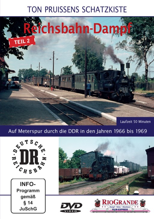 DVD: Ton Pruissens Filmschätze - Reichsbahn-Dampf Teil 2. Auf Meterspur durch die DDR in den Jahren 1966 bis 1969