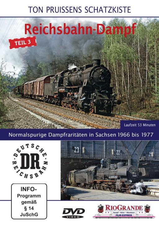 DVD: Ton Pruissens Filmschätze - Reichsbahn-Dampf Teil 3. Normalspurige Dampfraritäten in Sachsen 1966 bis 1977