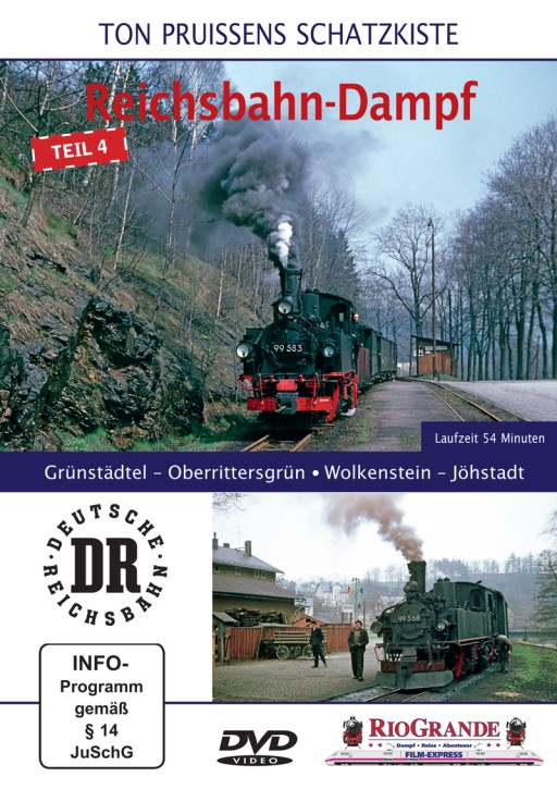 DVD: Ton Pruissens Filmschätze - Reichsbahn-Dampf Teil 4. Grünstädtel – Oberrittersgrün – Wolkenstein – Jöhstadt