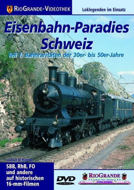 DVD: Eisenbahn-Paradies Schweiz Teil 1