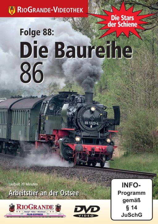 DVD: Stars der Schiene Folge 88. Die Baureihe 86. Arbeitstier an der Ostsee
