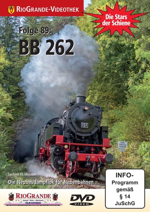 DVD: Stars der Schiene Folge 89. BB 262 - Die Neubaudampflok für Nebenbahnen