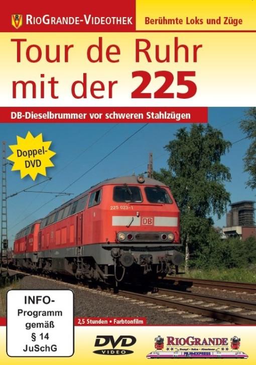 Doppel-DVD: Tour de Ruhr mit der 225. DB-Dieselbrummer vor schweren Stahlzügen
