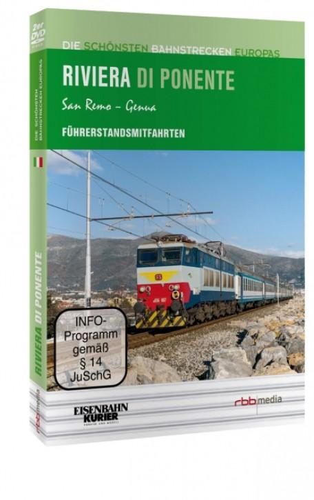 DVD: Die schönsten Bahnstrecken Europas. Riviera di Ponente San Remo - Genua