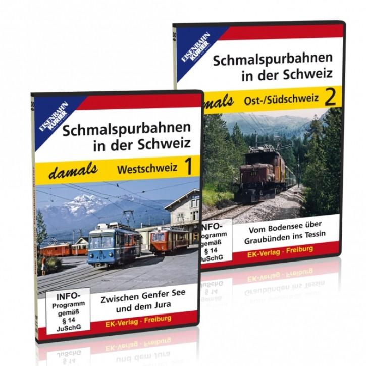 DVD-Paket: Schmalspurbahnen in der Schweiz damals Teile 1 + 2