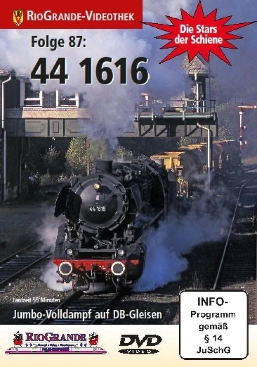 DVD: Stars der Schiene Folge 87. 44 1616. Jumbo-Volldampf auf DB-Gleisen
