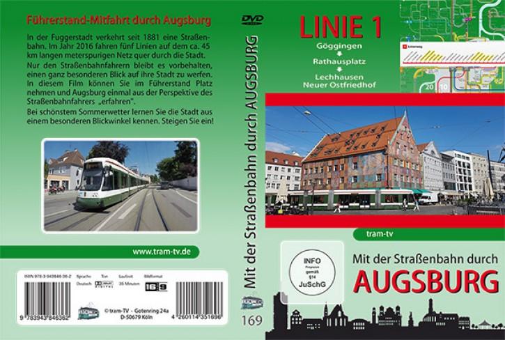 DVD: Mit der Straßenbahn durch Augsburg Linie 1. Göggingen bis Neuer Ostfriedhof