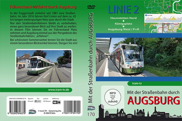 DVD: Mit der Straßenbahn durch Augsburg Linie 2. Haunstetten Nord bis Augsburg West