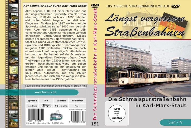 DVD: Längst vergessene Straßenbahnen: Die Schmalspurstraßenbahn in Karl-Marx-Stadt