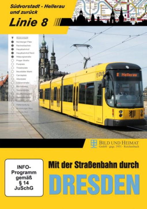 DVD: Mit der Straßenbahn durch Dresden. Linie 8 Südvorstadt - Hellerau und zurück