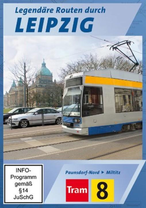 DVD: Legendäre Routen durch Leipzig. Tram 8 Paunsdorf Nord - Miltitz