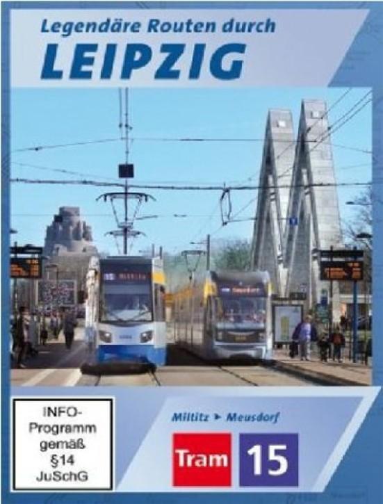 DVD: Legendäre Routen durch Leipzig. Tram 15 Miltitz - Meusdorf