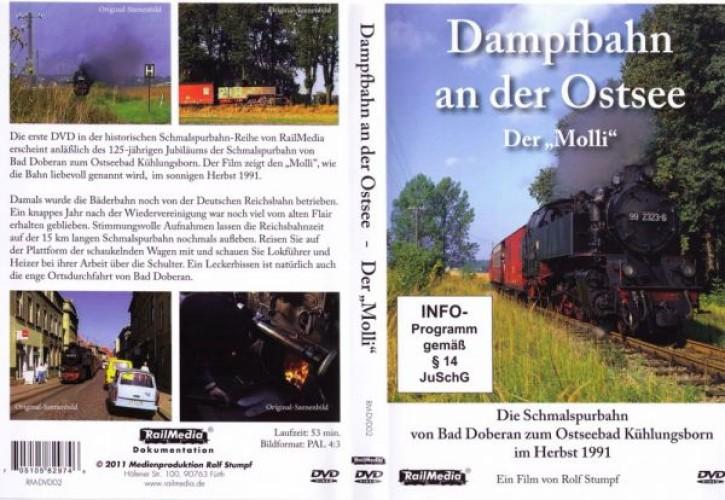 DVD: Dampfbahn an der Ostsee. Der Molli 1991