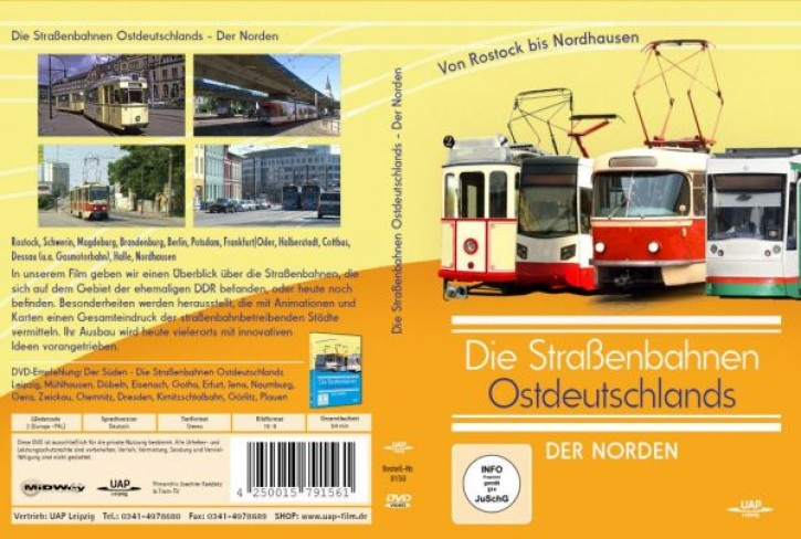DVD: Die Straßenbahnen Ostdeutschlands. Der Norden von Rostock bis Nordhausen