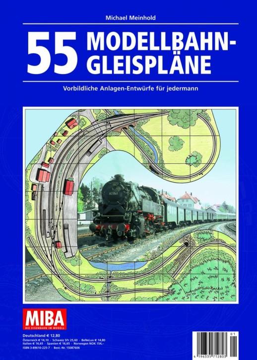 MIBA-Planungshilfen: 55 Modellbahn-Gleispläne