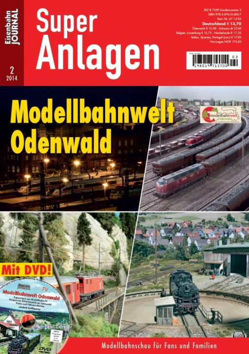 Eisenbahn Journal Super Anlagen 2-2014:  Modellbahnwelt Odenwald. Mit DVD. Eine Anlagenschau der Superlative
