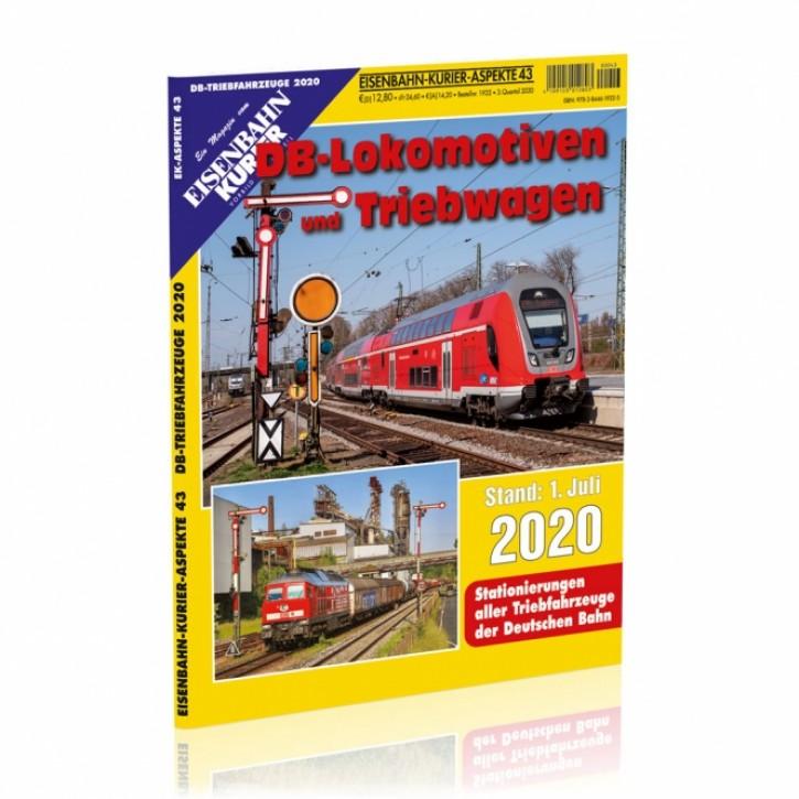Eisenbahn Kurier Aspekte 43: DB-Lokomotiven und Triebwagen Stand 1. Juli 2020