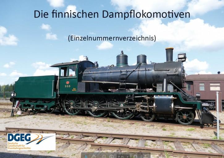 Die finnischen Dampflokomotiven - Einzelnummernverzeichnis. Günter Krause