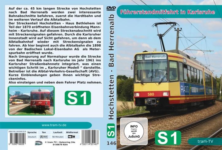 Blu-ray Disc: Führerstandmitfahrt in Karlsruhe. S 1 Hochstetten - Bad Herrenalb