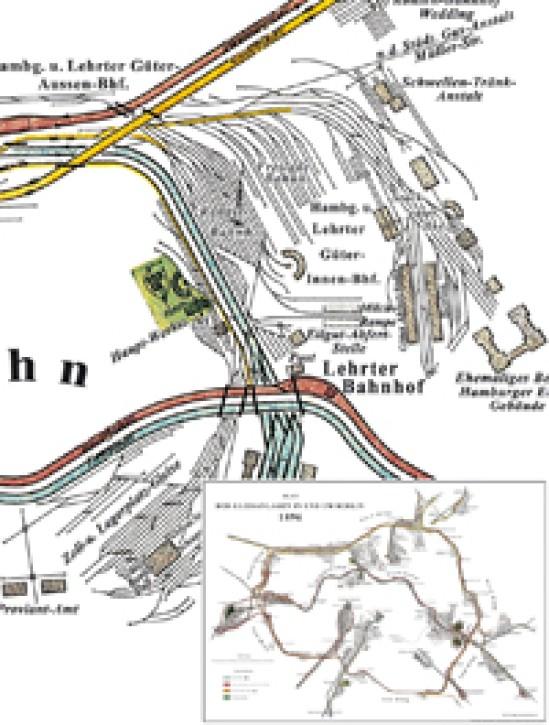Plan der Gleisanlagen Berlin 1896. Reprint