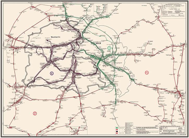 Betriebsstreckenplan der Reichsbahndirektion Berlin Stand Januar 1973 (Reprint)