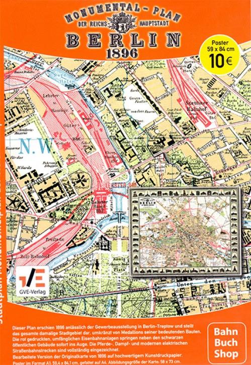 Monumentalplan der Reichshauptstadt Berlin 1896 Reprint