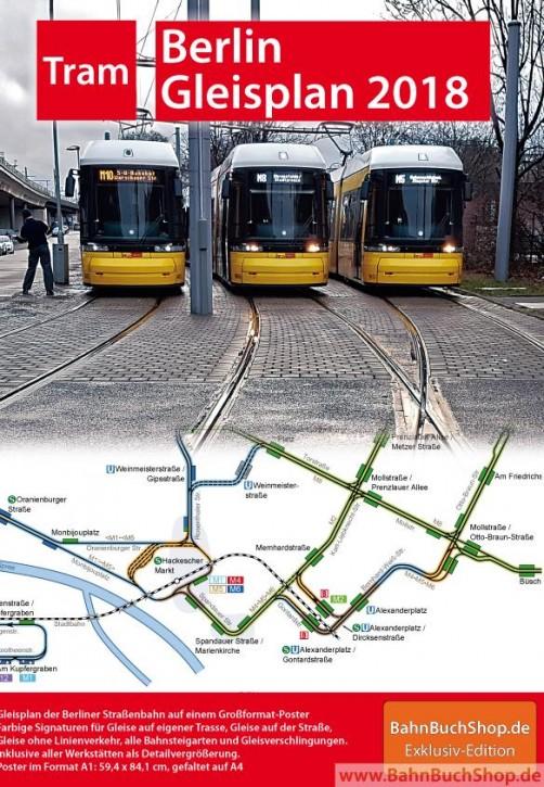 Straßenbahn-Gleisplan Berlin 2018. Christian Stade