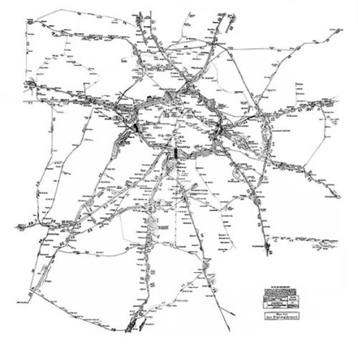 Eisenbahn-Größenwahn in Berlin. Netzplan für die Umgestaltung der Berliner Bahnanlagen vom 15. Mai 1941