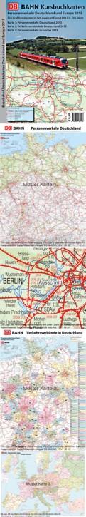 DB Eisenbahn-Übersichtskarten Deutschland und Europa 2015