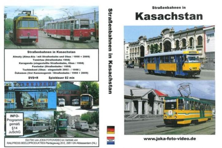DVD: Straßenbahnen in Kasachstan. Almaty, Temirtau, Karaganda, Pawlodar, Öskemen