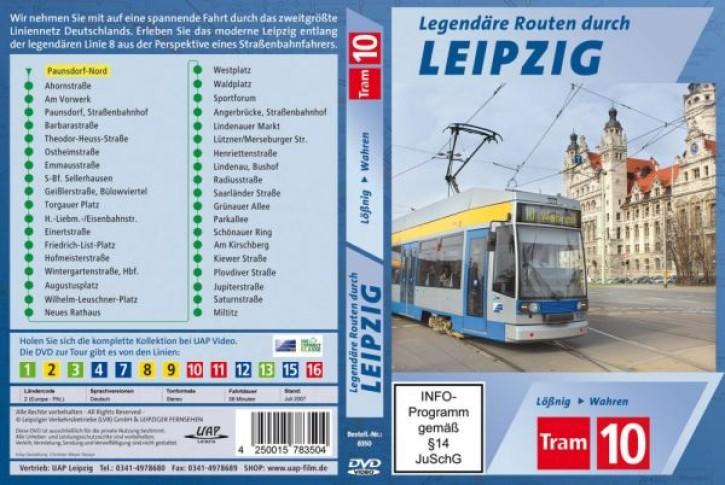 DVD: Legendäre Routen durch Leipzig. Tram 10 Lößnig - Wahren