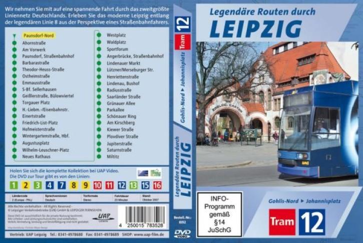 DVD: Legendäre Routen durch Leipzig. Tram 12 Gohlis-Nord - Johannisplatz