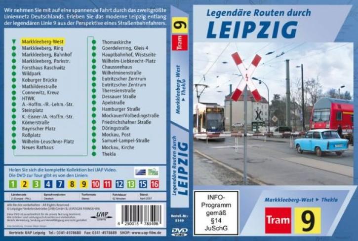 DVD: Legendäre Straßenbahnrouten durch Leipzig. Tram 9 Markkleeberg-West - Thekla