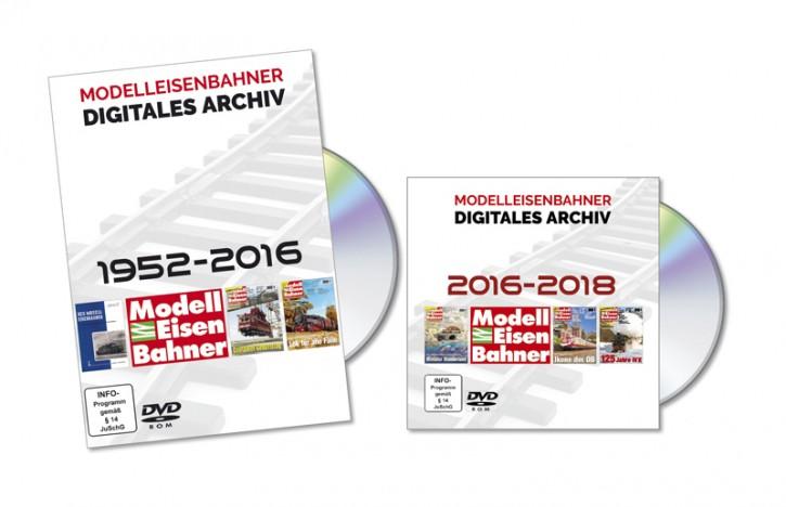 4 DVD-Rom: Modelleisenbahner. Das digitale Gesamtarchiv 1952-2018