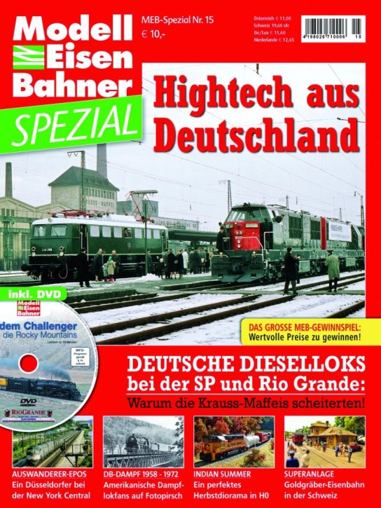 Modelleisenbahner Spezial: Hightech aus Deutschland. Krauss-Maffei-Loks bei Southern Pacific und Rio Grande