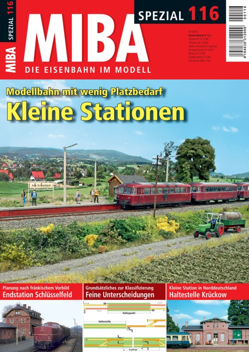 MIBA-Spezial 116: Kleine Stationen. Modellbahn mit wenig Platzbedarf