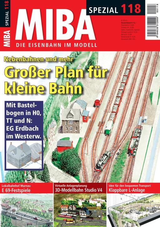 MIBA-Spezial 118: Nebenbahnen und mehr. Großer Plan für kleine Bahn