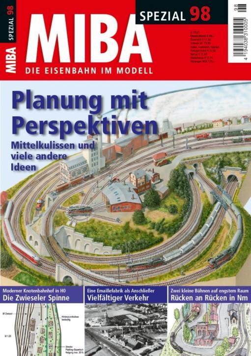 MIBA-Spezial 98: Planung mit Perspektiven. Mittelkulissen und viele andere Ideen