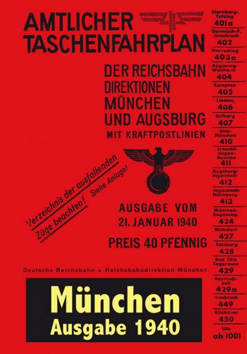 Amtlicher Taschenfahrplan München und Augsburg 1940 (Reprint)