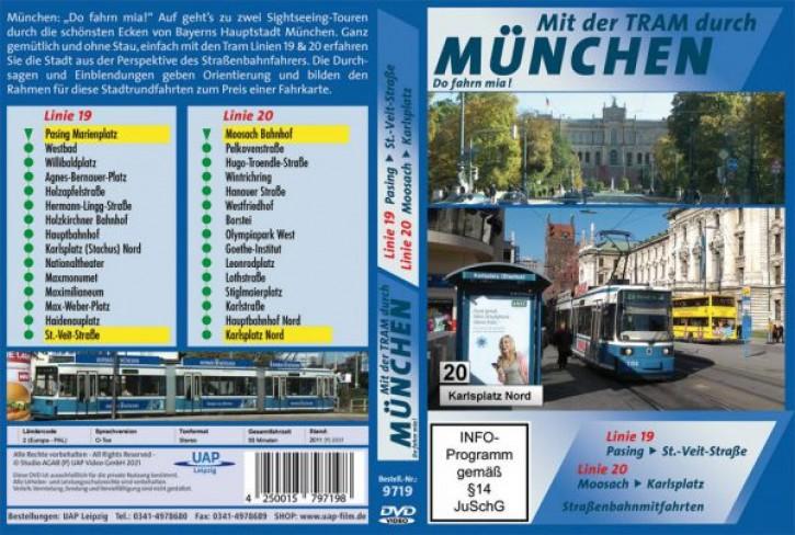 DVD: Mit der Tram durch München. Straßenbahnmitfahrten Linie 19 & Linie 20