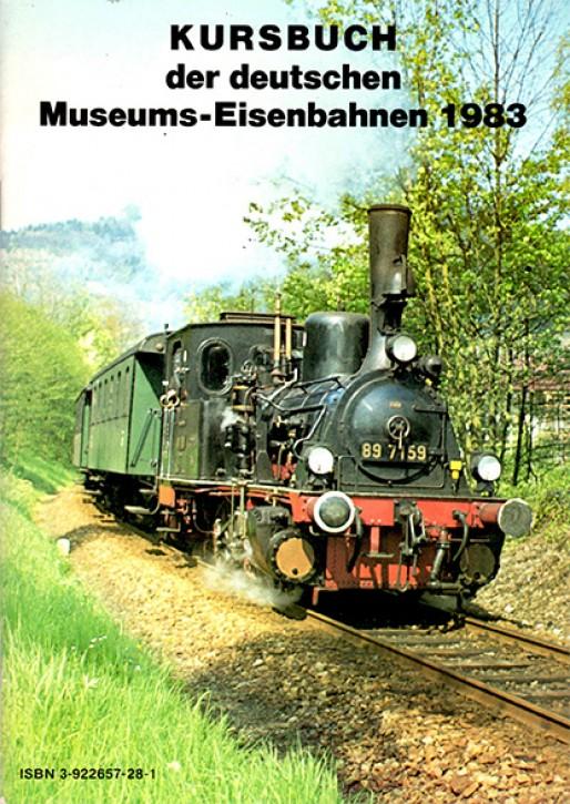 Antiquariat: Kursbuch der deutschen Museums-Eisenbahnen 1983
