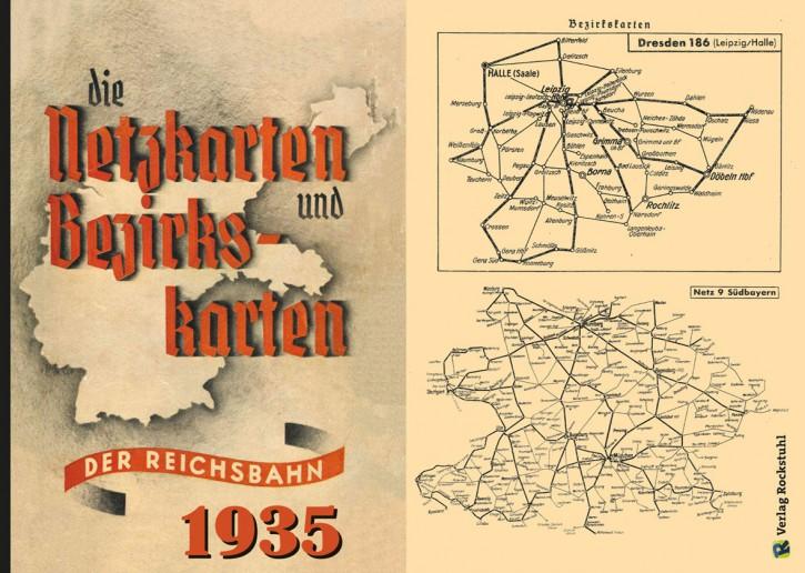 18 Netzkarten und 111 Bezirkskarten der Reichsbahn 1935